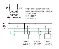 how does split phase 120v distribution exactly work? quora 120V Wiring Color Code the schematic wiring is connected like this
