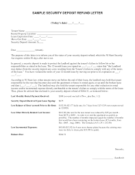 Security Deposit Letter Format Docoments Ojazlink