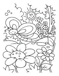 Garden Coloring Sheets Flower Page Printable Coloring Sheets Bird