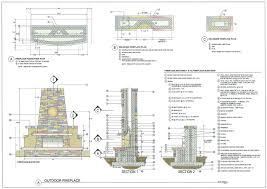 outdoor fireplace plans free highwinds us brick construction details home bluep full size