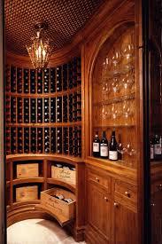 curved wine room