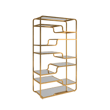 Giana Champagne Gold Mirrored Shelves Bookcase by iNSPIRE Q Bold - Free  Shipping Today - Overstock.com - 21887302