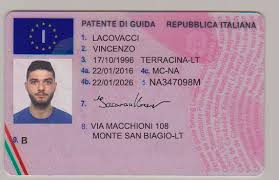 Driver's Documents - License Best Italy Novelty