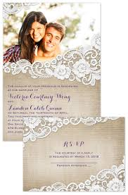 burlap and lace frame invitation with free response postcard Affordable Spanish Wedding Invitations burlap and lace frame invitation with free response postcard spanish wedding Spanish Wedding Invitation Wording