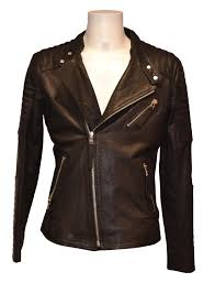 leather las coat