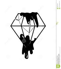 диамант в черноте эскиз татуировки черная иллюстрация иллюстрация