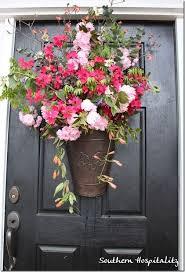 front door hangings73 best Front DoorPorch Spring Decor images on Pinterest  Front