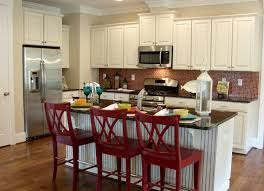 White Kitchen With Red Accents Red Accent Kitchen Cabinets Best Home Furniture Decoration