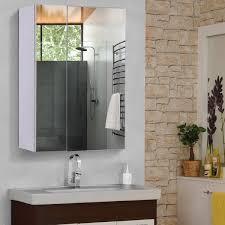 homcom wall mounted bathroom mirror