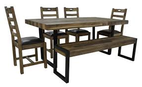 table 4 chairs and bench. dining set includes tables (l183 x w100cm), 4 chairs and a bench. table bench
