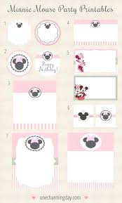 Mickey Mouse Party Printables Free Free Printable Mickey Mouse Food Labels Minnie Mouse Printables Free