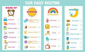 Toddler Schedule Chart Routine Chart Toddler Routine Toddler Routine Chart