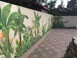 outdoor wall paint garden mural