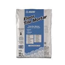 mapei floor tile 50 lb gray powder thinset mortar