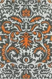 gray and orange area rug collection hand tufted area rug in grey orange white design by gray and orange area rug