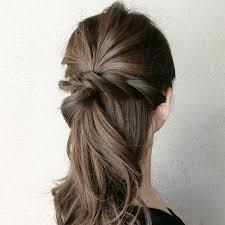 ミディアムヘアでハーフアップシンプルだけど上品に Beautybrush