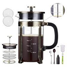 On the inside, you get a mesh and silicon filter for minimizing sediment and producing a fuller filtration process. Professional Grade 34 Oz French Press Coffee Maker Premium Milk Frother With Stainless Steel Stand Walmart Com Walmart Com