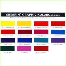 Genuine 1 Shot Lettering Enamel Color Chart 2019