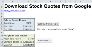 Google Finance Stock Quotes