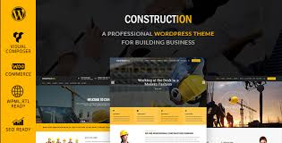 Construction Website Templates Enchanting Best Building Construction Company Website Templates Themes