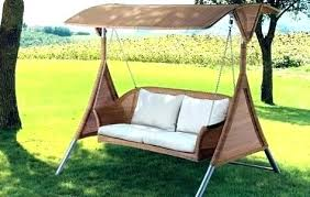wooden double glider swing with canopy patio covered porch swings fabulous sw