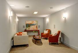 wall sconces for living room. Modern Living Room With Wall Sconce Flush Light In Seattle, WA Sconces For