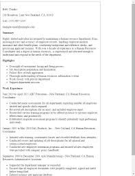 Resume Templates: Human Resources Coordinator