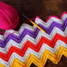 Zig Zag Crochet Pattern Cool Zali Zigzag Chevron Blanket Free Crochet Pattern