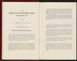 plessy v ferguson primary documents in american history virtual supreme court of the united states plessy v ferguson