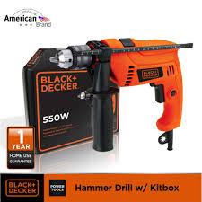philippines black decker hd555k b1 550w 13mm hammer drill kitbox