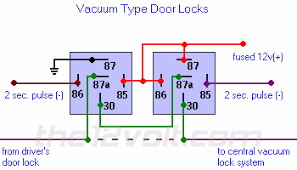 multiple wire power door lock systems add auto lock unlock vacuum door locks relay diagram