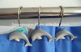 handicrafts polyresin shower curtain hooks