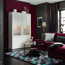 Rana Furniture Living Room A Living Room With A White High Gloss Storage Combination With