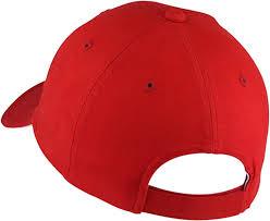 London Logo Baseball Cap, <b>6</b>-<b>Panel</b>, <b>Curved</b> Peak Cherry Red ...