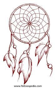 Dream Catcher Outline Dreamcatcher Tattoo Outline 100 41