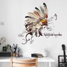 Großhandel Indische Wandaufkleber Kreative Mode Chief Tribal Hut Wandtattoos Wohnzimmer Esszimmer Flur Tv Bildschirm Dekoration Von Chairdesk 542