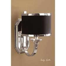 uttermost tuxedo 6 lt single shade chandelier 21130