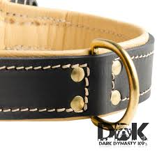 pride of sossa nappa padded leather dog collar