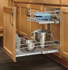 Kitchen Cabinet Racks Storage Kitchen Cabinet Organizer Pull Out Sliding Metal Pot Storage 2