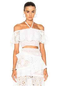 Alexis Cater Top in White   FWRD