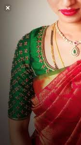 Designer Blouse Patterns For Pattu Sarees Nice Green Wedding Saree Blouse Designs Blouse Designs