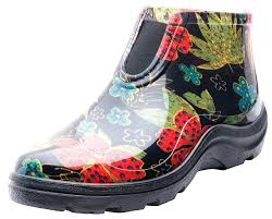 com sloggers women s waterproof rain and garden ankle boots with comfort insole midsummer black size 8 style 2841bk08 garden outdoor