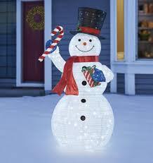 Indoor Snowman Lights 7ft 2 15 M Indoor Outdoor Led Pop Up Christmas Snowman With Twinkle Lights