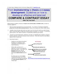 cover letter example of compare contrast essay example of cover letter thesis for compare contrast essay example thesis generator and examples comparison ideasexample of compare