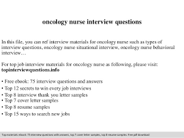 Chemotherapy Nurse Sample Resume Mesmerizing Oncology Nurse Interview Questions