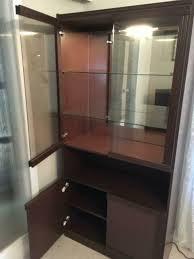 display cabinet wall unit wallnut