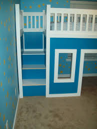 playhouse loft bed with stairs and slide