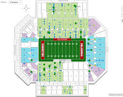 Visitor Side Sections For The Oklahoma Game Cougar