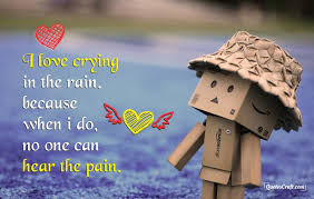 Crying Love Quotes Crying In Rain Feeling Sad Love Quotes That Make You Cry QuotesCraft 25