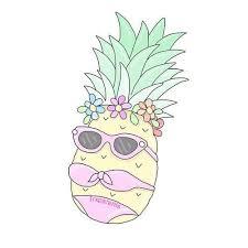 pineapple tumblr drawing. collage pineapple tumblr drawing
